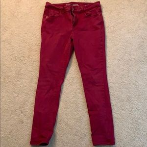 Old Navy red rockstar jeans sz 12